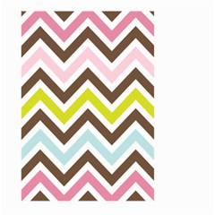 Chevrons Stripes Colors Background Large Garden Flag (two Sides) by Amaryn4rt