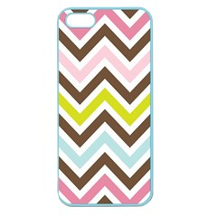 Chevrons Stripes Colors Background Apple Seamless Iphone 5 Case (color) by Amaryn4rt