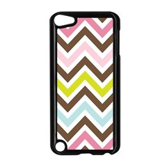 Chevrons Stripes Colors Background Apple Ipod Touch 5 Case (black) by Amaryn4rt