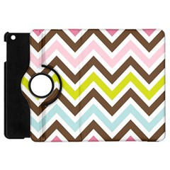 Chevrons Stripes Colors Background Apple Ipad Mini Flip 360 Case by Amaryn4rt