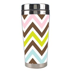 Chevrons Stripes Colors Background Stainless Steel Travel Tumblers by Amaryn4rt
