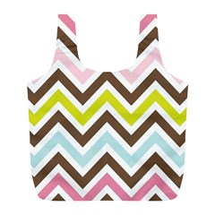 Chevrons Stripes Colors Background Full Print Recycle Bags (l)  by Amaryn4rt