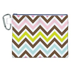 Chevrons Stripes Colors Background Canvas Cosmetic Bag (xxl) by Amaryn4rt