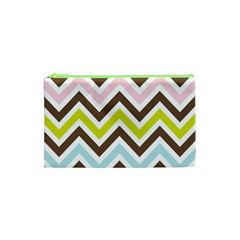 Chevrons Stripes Colors Background Cosmetic Bag (xs) by Amaryn4rt