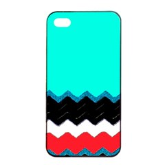 Pattern Digital Painting Lines Art Apple Iphone 4/4s Seamless Case (black) by Amaryn4rt