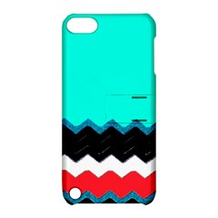 Pattern Digital Painting Lines Art Apple Ipod Touch 5 Hardshell Case With Stand by Amaryn4rt