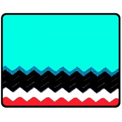Pattern Digital Painting Lines Art Double Sided Fleece Blanket (medium)  by Amaryn4rt