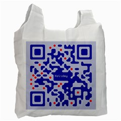 Digital Computer Graphic Qr Code Is Encrypted With The Inscription Recycle Bag (one Side) by Amaryn4rt