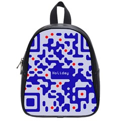 Digital Computer Graphic Qr Code Is Encrypted With The Inscription School Bags (small)  by Amaryn4rt