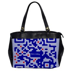 Digital Computer Graphic Qr Code Is Encrypted With The Inscription Office Handbags by Amaryn4rt