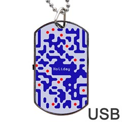 Digital Computer Graphic Qr Code Is Encrypted With The Inscription Dog Tag Usb Flash (two Sides) by Amaryn4rt