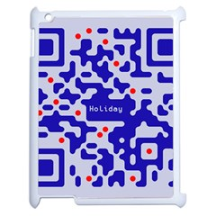 Digital Computer Graphic Qr Code Is Encrypted With The Inscription Apple Ipad 2 Case (white) by Amaryn4rt