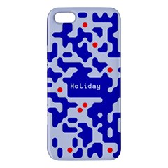 Digital Computer Graphic Qr Code Is Encrypted With The Inscription Apple Iphone 5 Premium Hardshell Case by Amaryn4rt