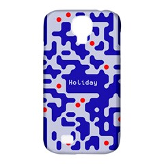 Digital Computer Graphic Qr Code Is Encrypted With The Inscription Samsung Galaxy S4 Classic Hardshell Case (pc+silicone) by Amaryn4rt