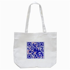 Digital Computer Graphic Qr Code Is Encrypted With The Inscription Tote Bag (white) by Amaryn4rt