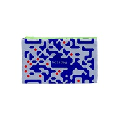 Digital Computer Graphic Qr Code Is Encrypted With The Inscription Cosmetic Bag (xs) by Amaryn4rt
