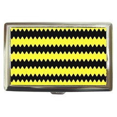 Yellow Black Chevron Wave Cigarette Money Cases by Amaryn4rt