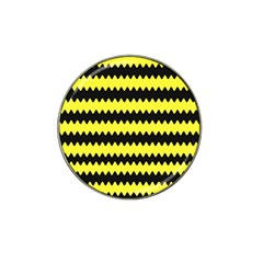 Yellow Black Chevron Wave Hat Clip Ball Marker (10 Pack) by Amaryn4rt