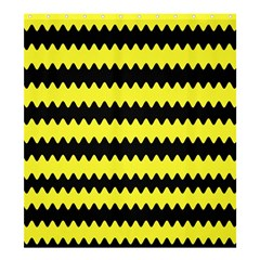 Yellow Black Chevron Wave Shower Curtain 66  X 72  (large)  by Amaryn4rt