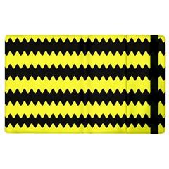 Yellow Black Chevron Wave Apple Ipad 3/4 Flip Case