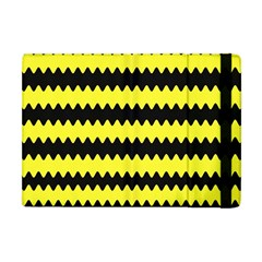 Yellow Black Chevron Wave Apple Ipad Mini Flip Case