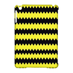 Yellow Black Chevron Wave Apple Ipad Mini Hardshell Case (compatible With Smart Cover) by Amaryn4rt