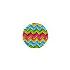 Colorful Background Of Chevrons Zigzag Pattern 1  Mini Buttons by Amaryn4rt
