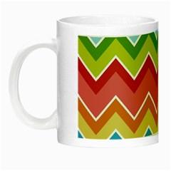 Colorful Background Of Chevrons Zigzag Pattern Night Luminous Mugs