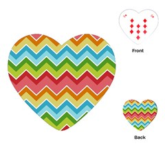 Colorful Background Of Chevrons Zigzag Pattern Playing Cards (heart)  by Amaryn4rt