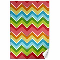 Colorful Background Of Chevrons Zigzag Pattern Canvas 20  X 30   by Amaryn4rt