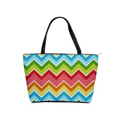 Colorful Background Of Chevrons Zigzag Pattern Shoulder Handbags by Amaryn4rt