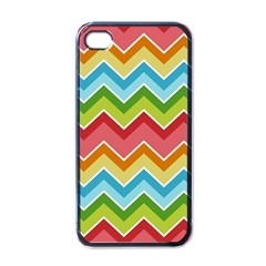 Colorful Background Of Chevrons Zigzag Pattern Apple Iphone 4 Case (black) by Amaryn4rt