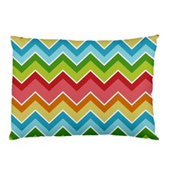 Colorful Background Of Chevrons Zigzag Pattern Pillow Case (two Sides) by Amaryn4rt