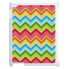 Colorful Background Of Chevrons Zigzag Pattern Apple Ipad 2 Case (white) by Amaryn4rt