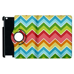 Colorful Background Of Chevrons Zigzag Pattern Apple Ipad 2 Flip 360 Case by Amaryn4rt