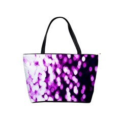Bokeh Background In Purple Color Shoulder Handbags by Amaryn4rt