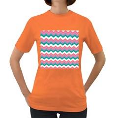 Chevron Pattern Colorful Art Women s Dark T Shirt