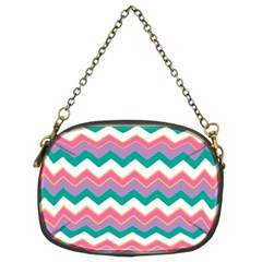 Chevron Pattern Colorful Art Chain Purses (two Sides)  by Amaryn4rt