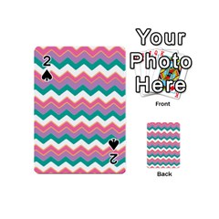 Chevron Pattern Colorful Art Playing Cards 54 (mini)  by Amaryn4rt