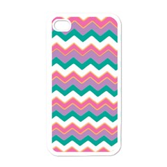 Chevron Pattern Colorful Art Apple Iphone 4 Case (white) by Amaryn4rt