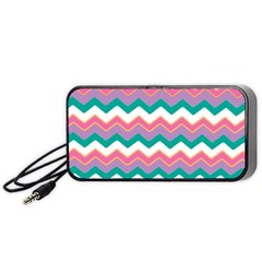 Chevron Pattern Colorful Art Portable Speaker (black) by Amaryn4rt