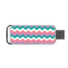Chevron Pattern Colorful Art Portable Usb Flash (two Sides) by Amaryn4rt