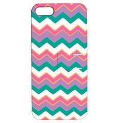 Chevron Pattern Colorful Art Apple Iphone 5 Hardshell Case With Stand by Amaryn4rt
