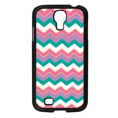 Chevron Pattern Colorful Art Samsung Galaxy S4 I9500/ I9505 Case (black) by Amaryn4rt