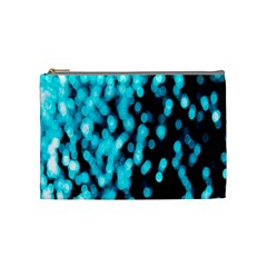 Bokeh Background In Blue Color Cosmetic Bag (medium)  by Amaryn4rt