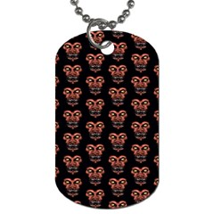 Dark Conversational Pattern Dog Tag (two Sides) by dflcprints