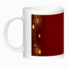 Red Background With A Pattern Night Luminous Mugs by Amaryn4rt