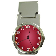 Red Background With A Pattern Money Clip Watches by Amaryn4rt