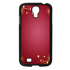 Red Background With A Pattern Samsung Galaxy S4 I9500/ I9505 Case (black) by Amaryn4rt