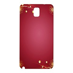 Red Background With A Pattern Samsung Galaxy Note 3 N9005 Hardshell Back Case by Amaryn4rt